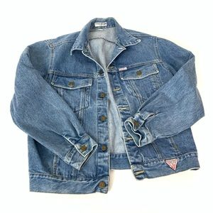 Vintage Guess Georges Denim Blue Jacket Size M/L